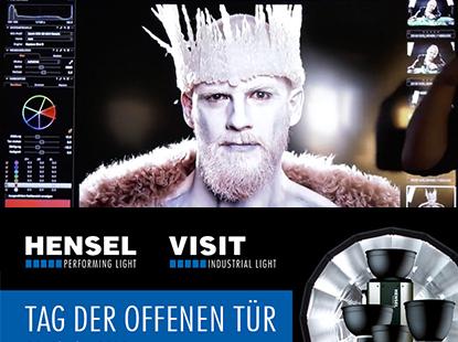 Live-Shooting beim Tag der offenen Tür von Hensel Visit